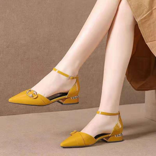 Ladies Low Heel Pointed Shoes