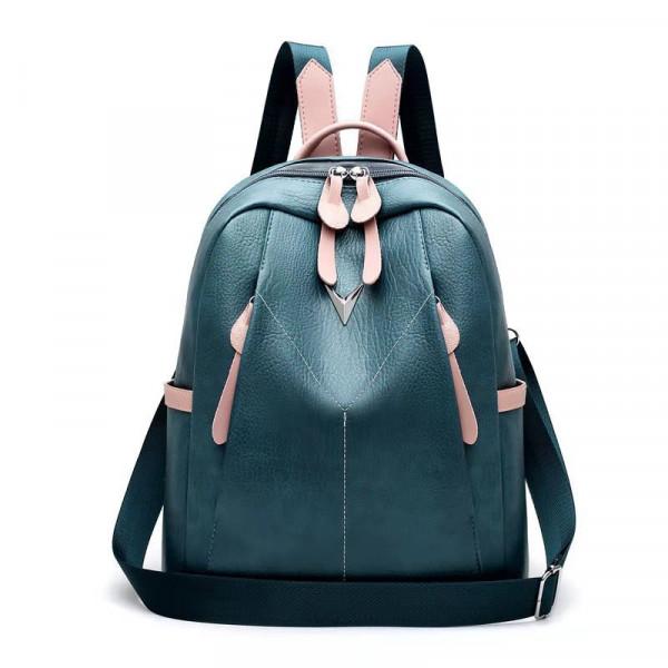 Korean Fashion Leisure PU Leather Backpack