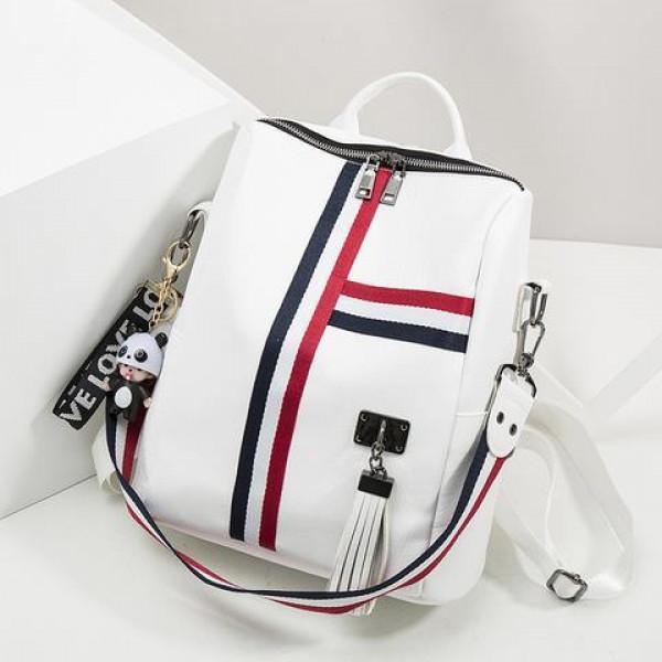 Korean Fashion PU Leather Backpack