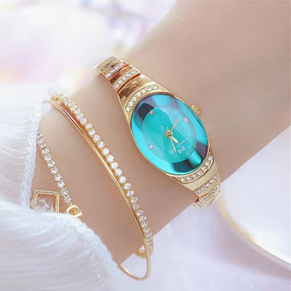 Small Dial Crystal Wrist Watch