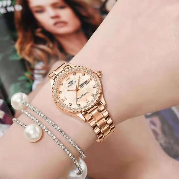 Temperament Antique Gold Ladies Watch