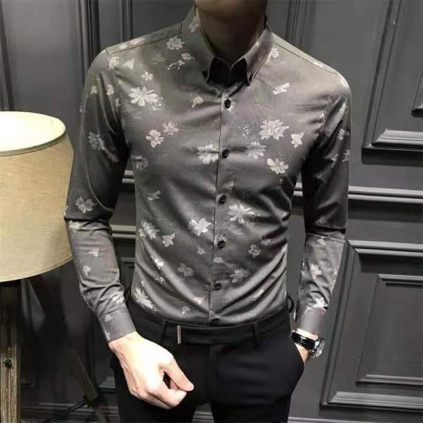 Men's Flower Printed Full Sleeve Shirts