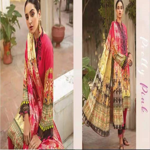 Pakistani Ladies' three Piece Sets. Women's Cotton Drees
